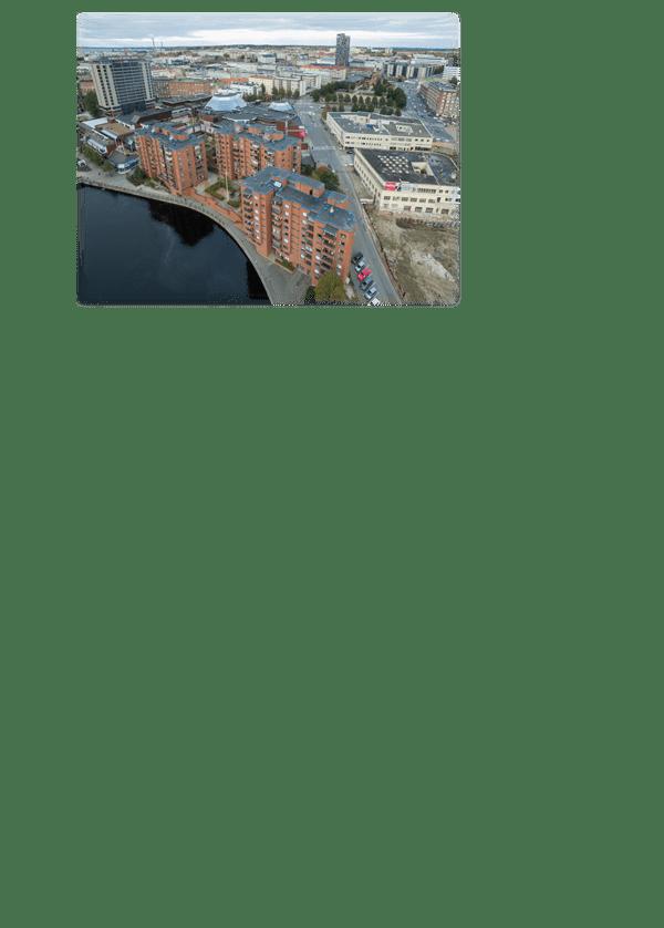 Dronekuva Tampereelta