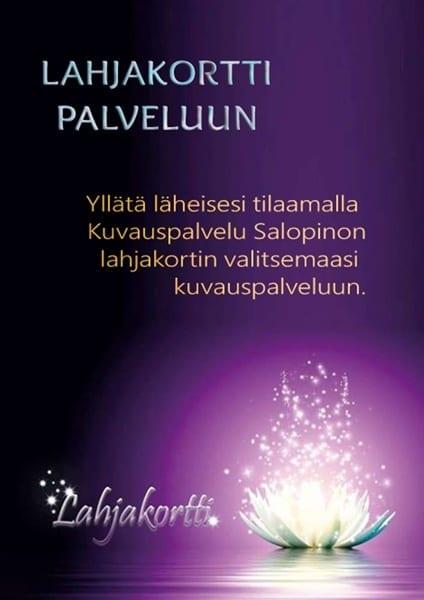 Kuvauspalvelu Salopino - lahjakortti palveluun