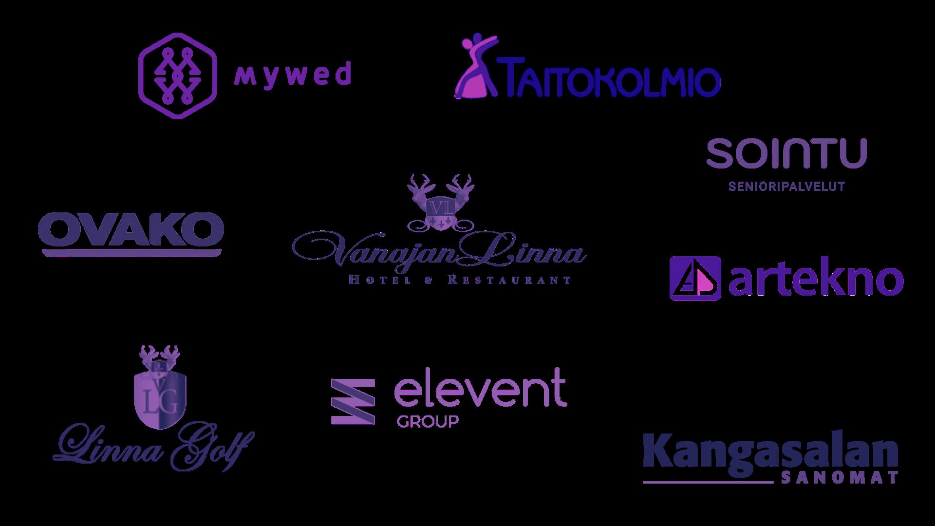 Referenssien logot - Kuvauspalvelu Salopino