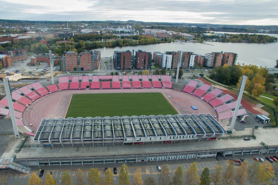 Ratinan Stadion drone-kuvaus
